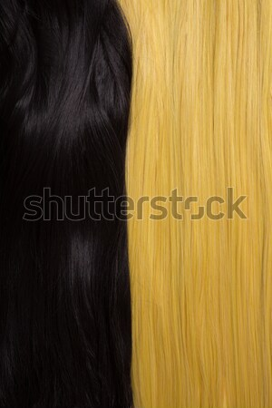 Texture of black and golden blond hair  Stock photo © Elisanth