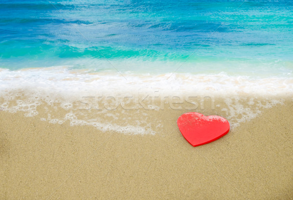 Heart shape on the beach Stock photo © EllenSmile