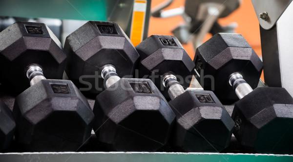 Néma fitnessz stúdió különböző súly klub Stock fotó © EllenSmile