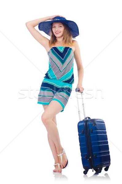 Kadın yaz tatili kız mutlu arka plan seyahat Stok fotoğraf © Elnur