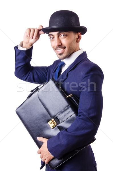 Empresário velho estilo seis homem trabalhar Foto stock © Elnur