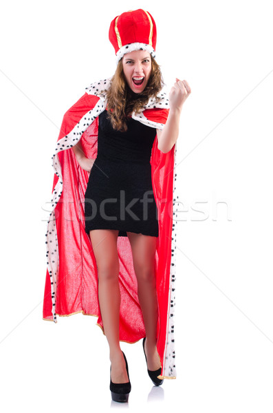 Queen businesswoman isolated on the white Stock photo © Elnur