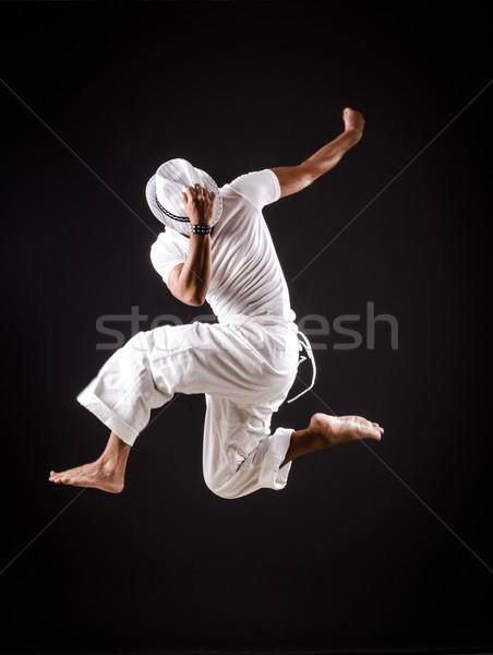 Táncos tánc fehér ruházat férfi divat Stock fotó © Elnur