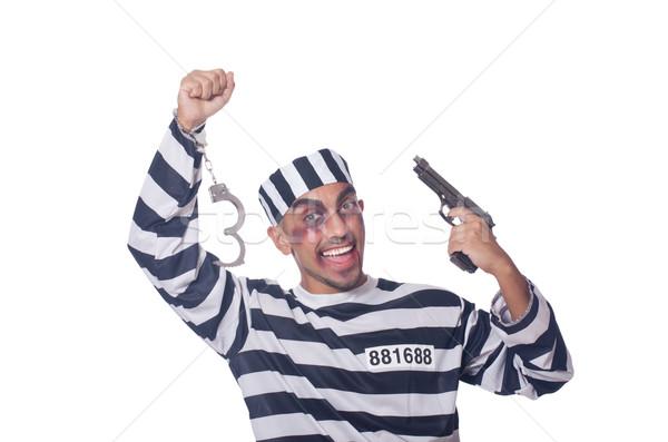 Prigioniero gun legge polizia giustizia catena Foto d'archivio © Elnur