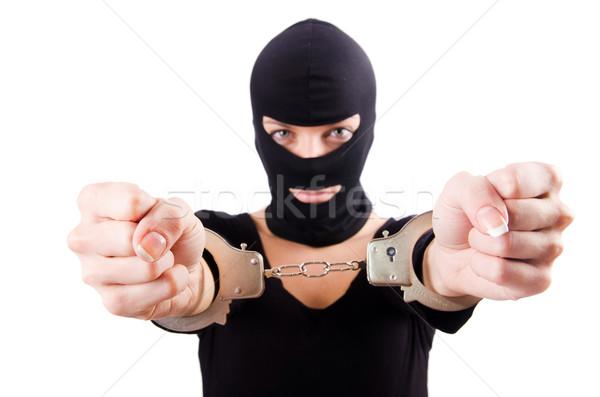 小さな 女性 犯罪者 手錠 女性 背景 ストックフォト © Elnur