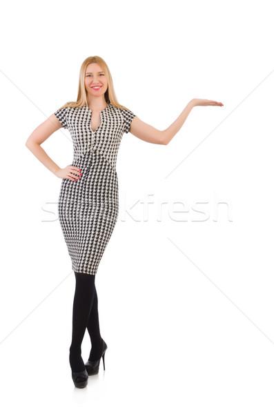 Nő izolált fehér lány modell ruházat Stock fotó © Elnur