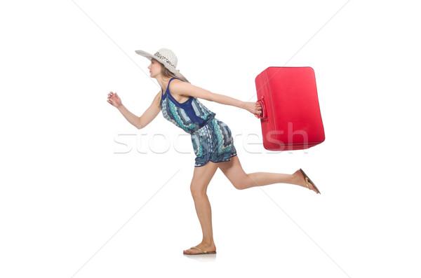 旅行 人 荷物 女性 少女 を実行して ストックフォト © Elnur