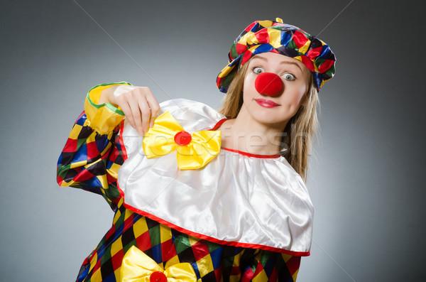 Clown grappig gelukkig leuk hoed vakantie Stockfoto © Elnur