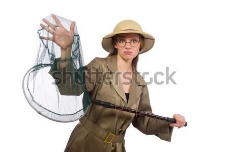 Vicces vadász vadászat fegyver szemüveg jókedv Stock fotó © Elnur