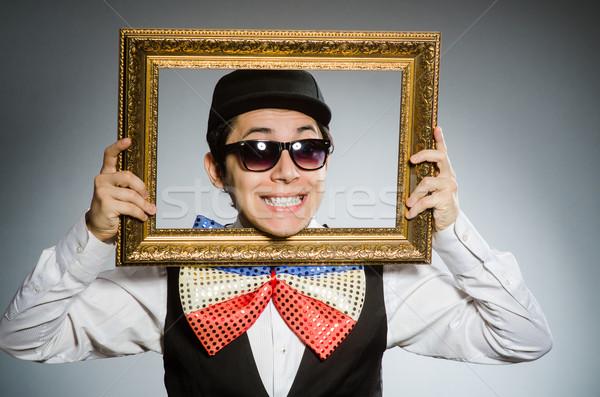 Funny hombre marco de imagen gafas diversión teatro Foto stock © Elnur