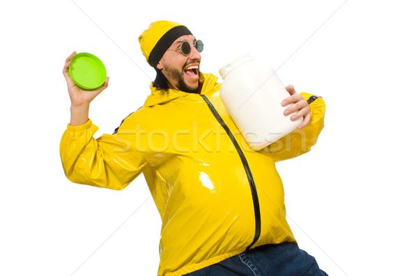 太り過ぎ 男 孤立した 白 食品 健康 ストックフォト © Elnur