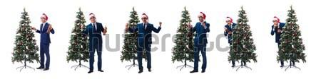 Mann up isoliert weißen Mannes weiß Business Stock foto © Elnur