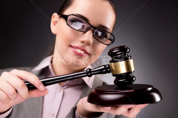 Mulher juiz gabela justiça negócio lei Foto stock © Elnur