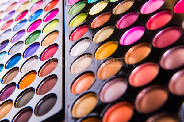 Stockfoto: Ingesteld · kleurrijk · schaduw · make · geïsoleerd · witte