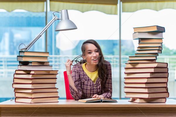 Student preparing for college exams Stock photo © Elnur