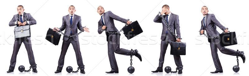 üzletember fehér törvény igazság labda zár Stock fotó © Elnur