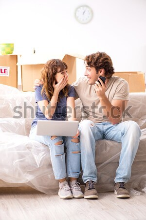 Family conflict with wife husband in bed Stock photo © Elnur