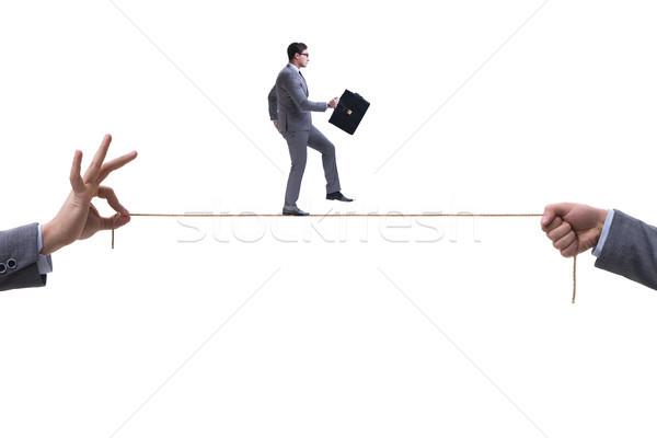 Zakenman lopen strak touw business man Stockfoto © Elnur