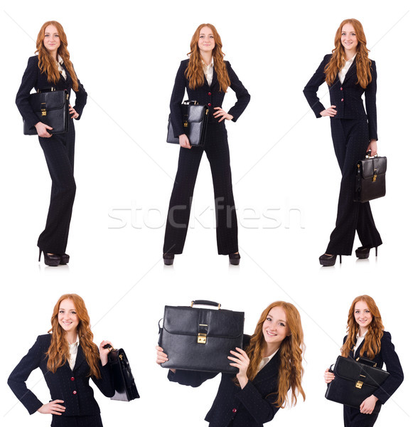 The woman businesswoman in business concept isolated on white Stock photo © Elnur