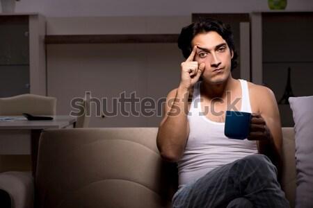 Umutsuz adam düşünme intihar çift üzücü Stok fotoğraf © Elnur