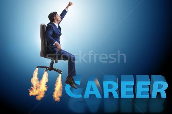 Businessman in promotion business concept Stock photo © Elnur