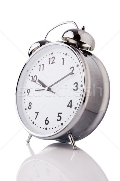 Alarm clock isolated on the white Stock photo © Elnur