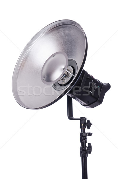 Photo stock: Studio · lumière · stand · isolé · blanche · technologie