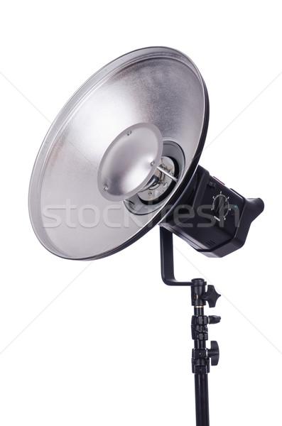 Foto stock: Estúdio · luz · suporte · isolado · branco · tecnologia
