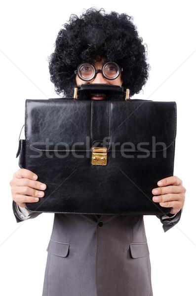 Businessman isolated on the white background Stock photo © Elnur