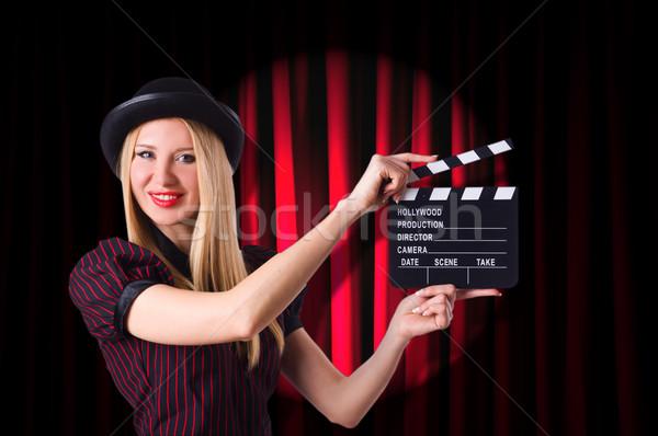 Donna gangster film film sfondo sicurezza Foto d'archivio © Elnur