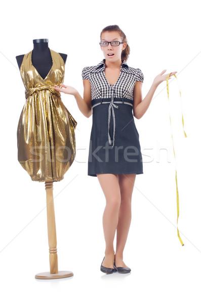 Mulher alfaiate trabalhando branco moda trabalhar Foto stock © Elnur