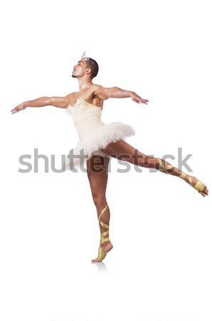 Muscular ballet performer in funny concept Stock photo © Elnur