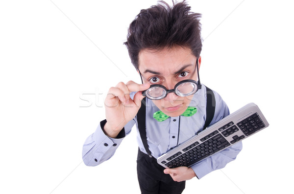 Computer geek nerd in funny concept Stock photo © Elnur