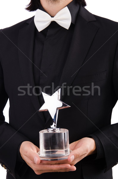 Businessman with star award isolated on white Stock photo © Elnur