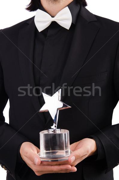 Geschäftsmann Sterne Vergabe isoliert weiß Sport Stock foto © Elnur