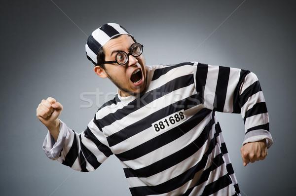Prisión preso funny hombre bloqueo libertad Foto stock © Elnur