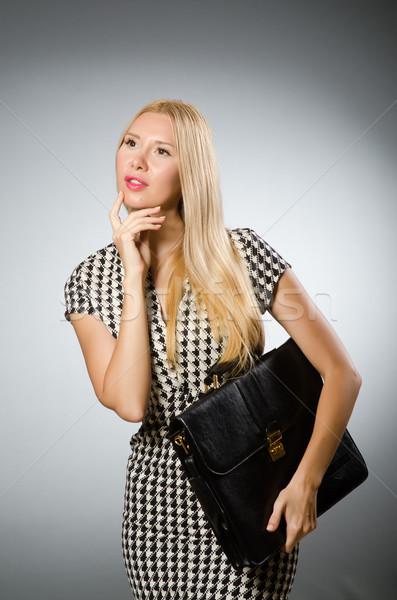 Zakenvrouw business aktetas vrouw meisje gelukkig Stockfoto © Elnur