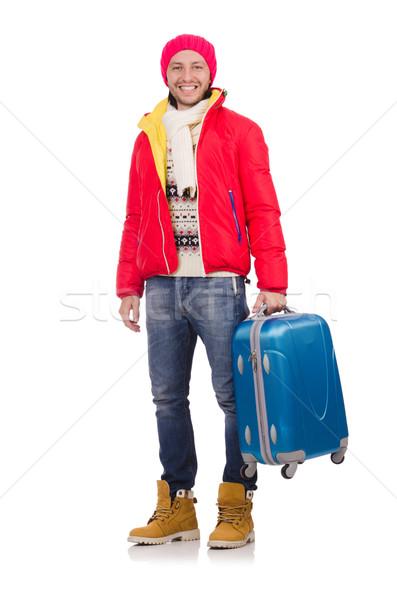 Foto stock: Homem · inverno · férias · empresário · viajar · seis