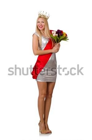 красоту конкурс победителем изолированный белый цветы Сток-фото © Elnur