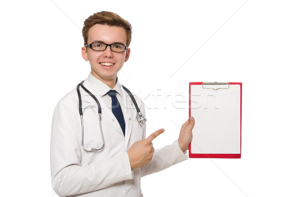 смешные врач изолированный белый больницу пространстве Сток-фото © Elnur