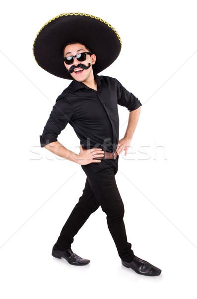 Divertente uomo indossare mexican sombrero Hat Foto d'archivio © Elnur