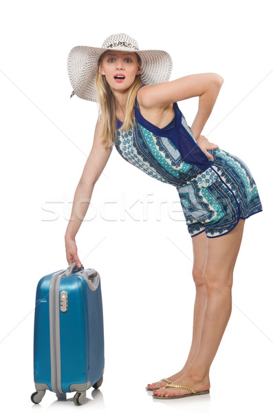 Travelling concept with person and luggage Stock photo © Elnur