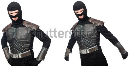 Grappig ninja geïsoleerd witte man masker Stockfoto © Elnur