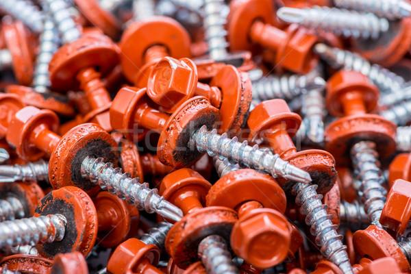 Sok épület háttér fém ipar piros Stock fotó © Elnur