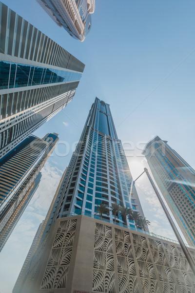 Tall Dubai Marina skyscrapers in UAE Stock photo © Elnur