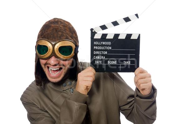 Piloot film witte man film Stockfoto © Elnur