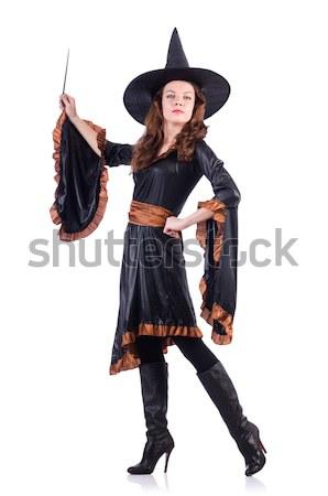 девушки черный красный карнавальных костюм изолированный Сток-фото © Elnur