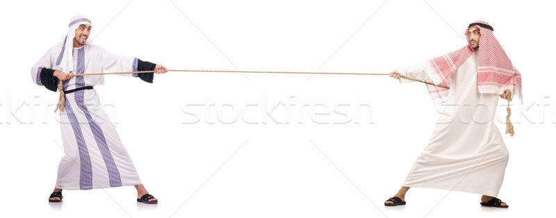 Guerra blanco negocios empresario traje trabajador Foto stock © Elnur