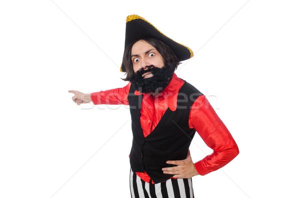 Grappig piraat geïsoleerd witte hoed vakantie Stockfoto © Elnur