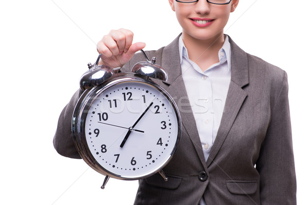 Businesswoman with clock in business concept Stock photo © Elnur